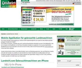 Bild Landwirt com Screenshot Magazin